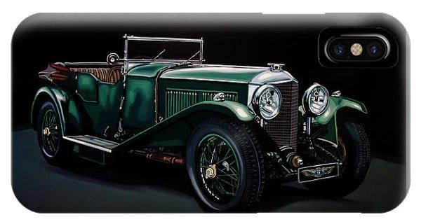 Bentley Open Tourer 1929 Painting IPhone Case