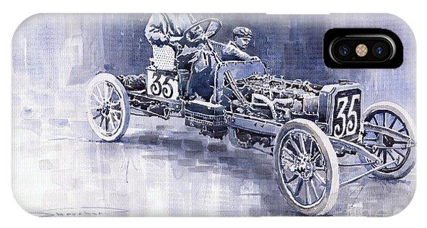 Oldtimer iPhone Case - Benz 60hp Targa Florio Rennwagen 1907 by Yuriy Shevchuk
