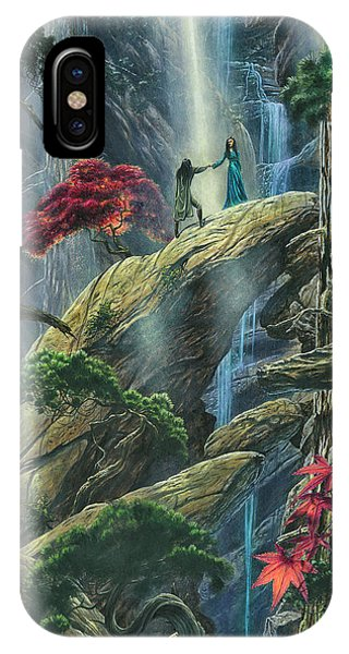 IPhone Case featuring the painting Beren And Luthien Are Betrothed To Each Other by Kip Rasmussen