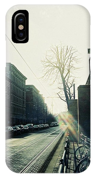 Berlin Street With Sun IPhone Case
