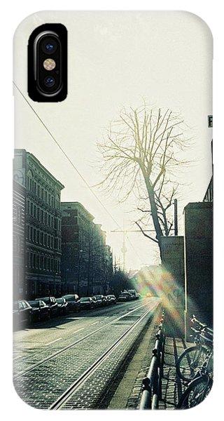 Berlin Street With Sun IPhone Case