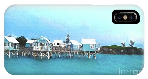 Hillary Clinton iPhone Case - Bermuda Coastal Cabins by Luther Fine Art