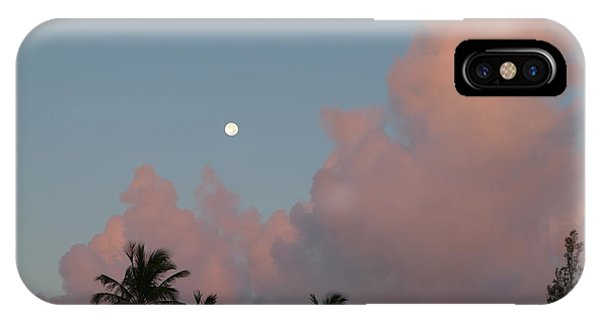 IPhone Case featuring the photograph Bermuda Morning Moon by Richard Reeve