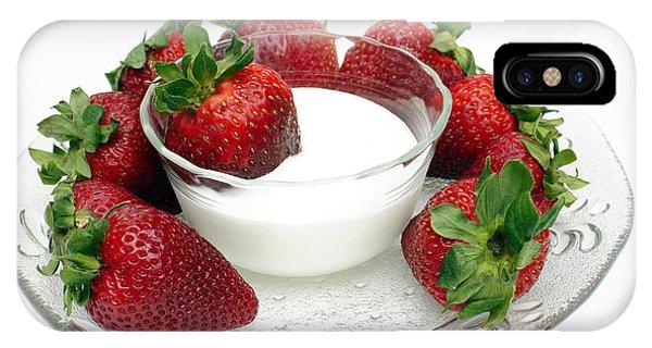 Berries And Cream IPhone Case