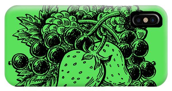 Lid iPhone Case - Berries From Forest by Irina Sztukowski