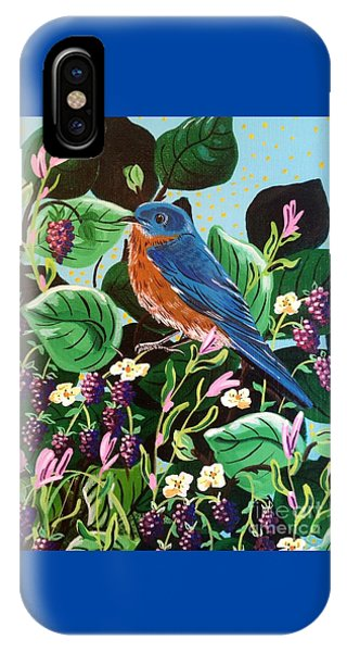 Berry Bluebird IPhone Case