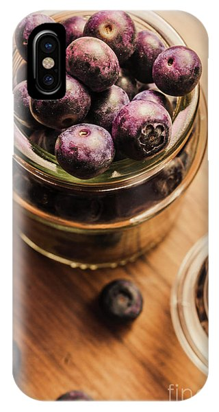 Blue Berry iPhone Case - Berry Jam by Jorgo Photography - Wall Art Gallery