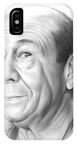 Wizard iPhone X / XS Case - Bert Lahr by Greg Joens