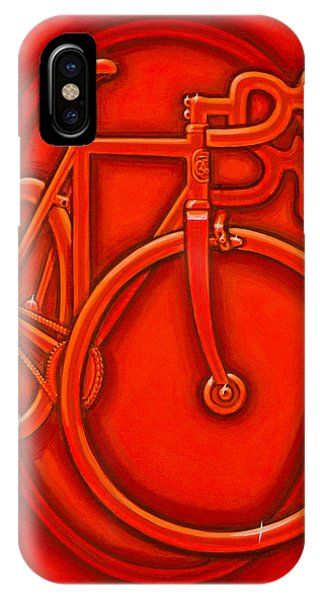 Bespoked In Orange  IPhone Case