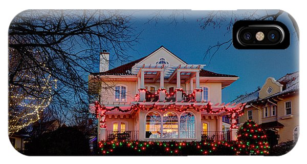 Best Christmas Lights Lake Of The Isles Minneapolis IPhone Case