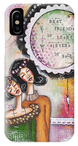 Best Friends By Heart, Sisters By Soul IPhone Case