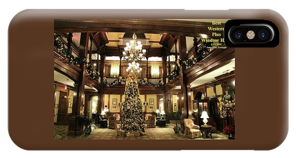 Best Western Plus Windsor Hotel Lobby - Christmas IPhone Case