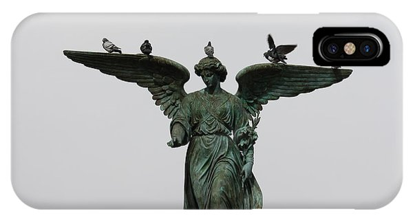 IPhone Case featuring the photograph Bethesda Fountain by Wilko Van de Kamp