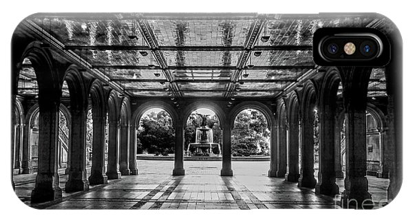 Bethesda Terrace Arcade 2 - Bw IPhone Case