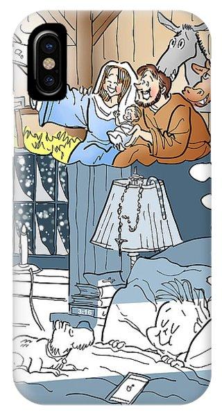 Nativity Selfie IPhone Case