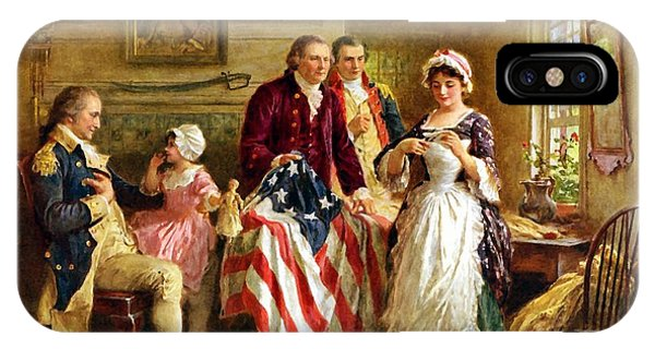 Betsy Ross And General George Washington IPhone Case