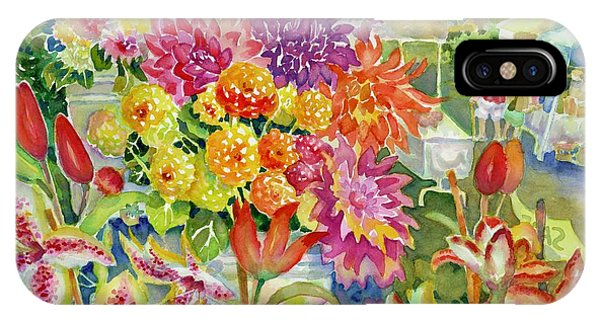 Betsy's Dahlias II IPhone Case