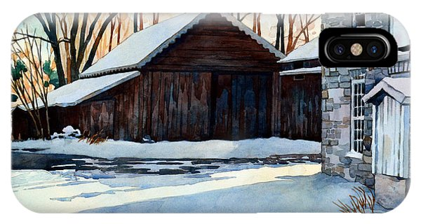 Barn Snow iPhone Case - Better Days by Mick Williams