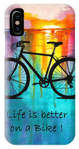 Better On A Bike IPhone Case