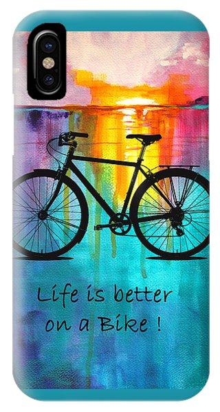 Sky iPhone Case - Better On A Bike by Nancy Merkle