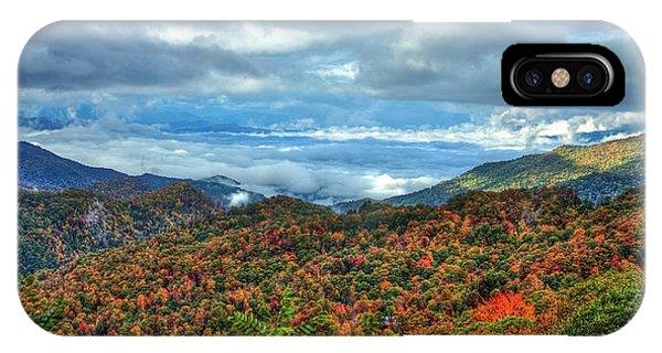 Between The Clouds Blue Ridge Parkway North Carolina Art IPhone Case