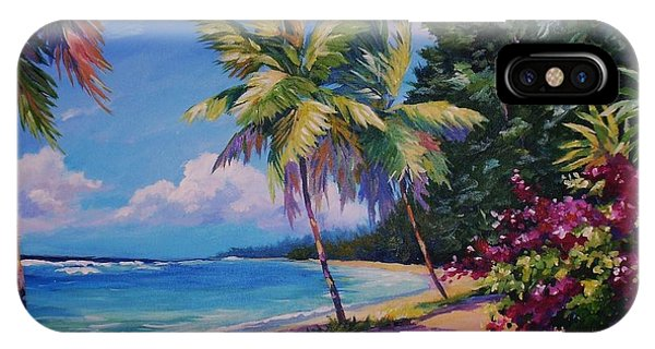 Bahamas iPhone Case - Between The Palms 20x16 by John Clark
