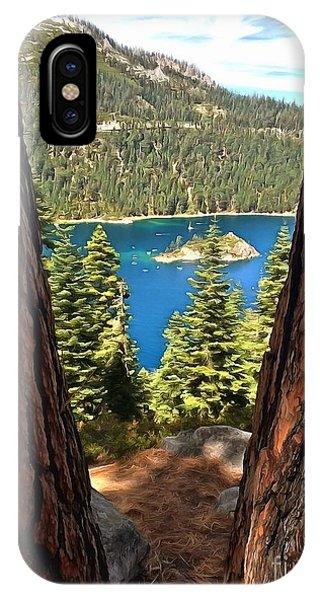 Between The Pines IPhone Case