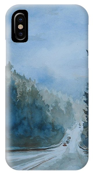 Between The Showers On Hwy 101 IPhone Case