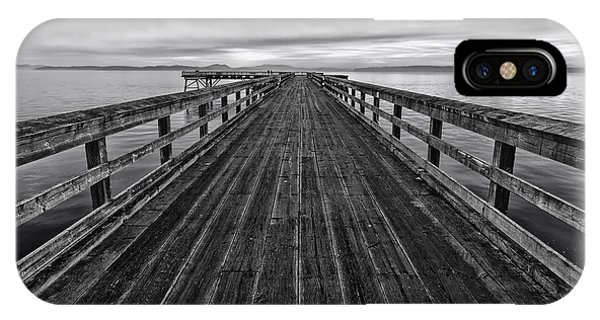 Bevan Fishing Pier - Black And White IPhone Case