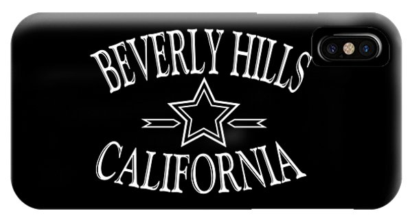 Sports Clothing iPhone Case - Beverly Hills California Design by Peter Potter
