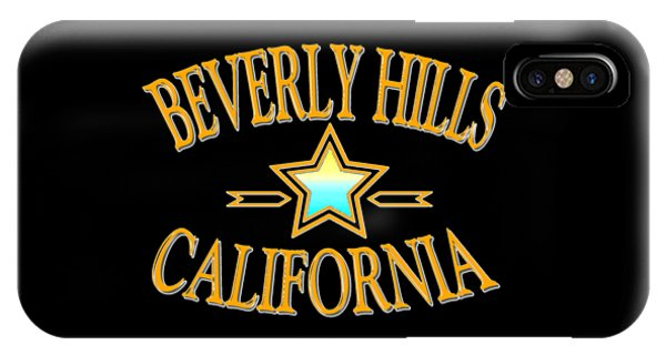 Sports Clothing iPhone Case - Beverly Hills California Star Design by Peter Potter