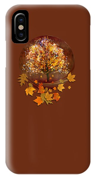 IPhone Case featuring the digital art Starry Tree by Valerie Anne Kelly