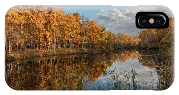 Beyer's Pond In Autumn IPhone Case