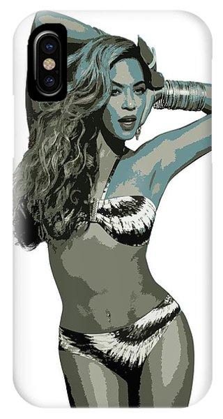 Child Actress iPhone Case - Beyonce Cutout Art by David Dehner
