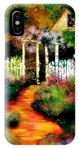 IPhone Case featuring the painting Beyond The Fence by Denise Tomasura