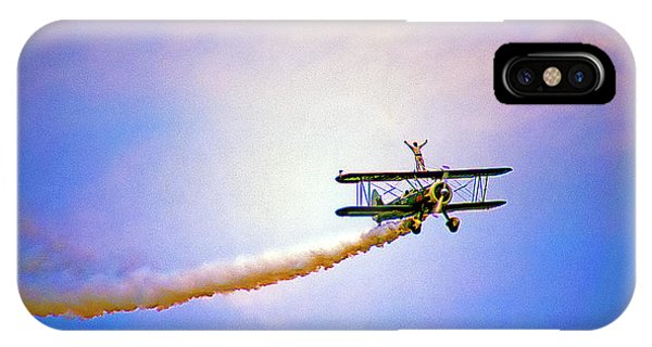 Bi-plane And Wing Walker IPhone Case