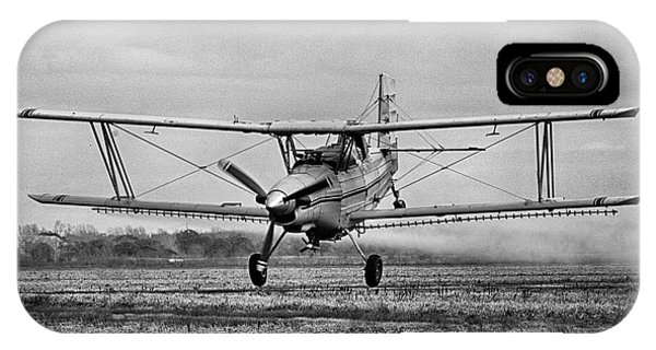 Bi-winged Crop Duster B N W IPhone Case