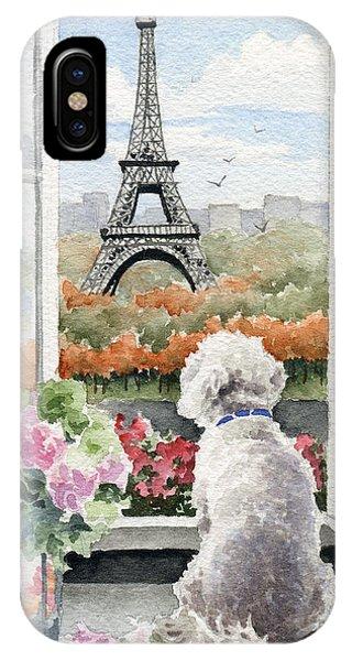 Paris iPhone Case - Bichon Frise In Paris by David Rogers