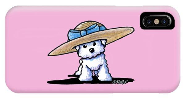 Bichon In Hat IPhone Case