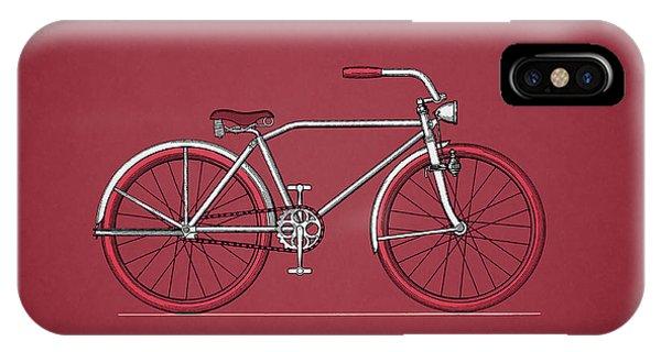 Bike iPhone X Case - Bicycle 1935 by Mark Rogan