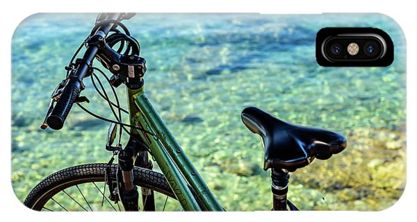 Bicycle By The Adriatic, Rovinj, Istria, Croatia IPhone Case