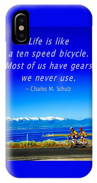 Bicycle Charles M Schulz Quote IPhone Case