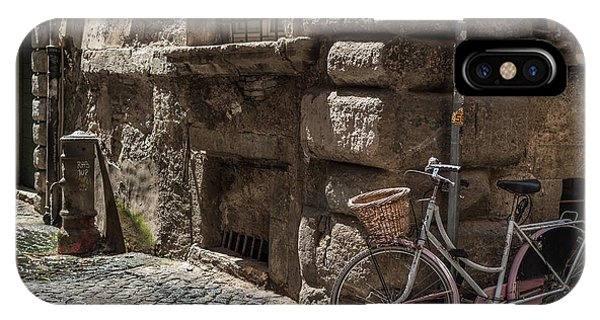 Bicycle In Rome, Italy IPhone Case