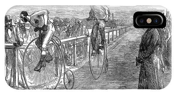 Lillie iPhone Case - Bicycle Race, 1875 by Granger