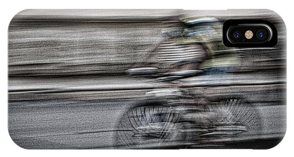 Bicycle Rider Abstract IPhone Case