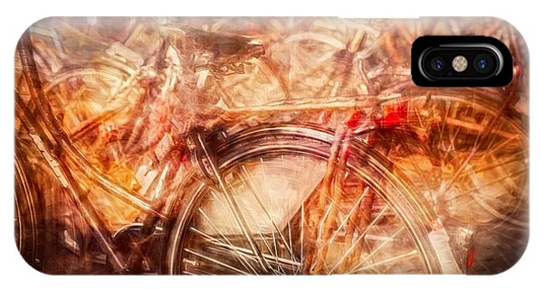 IPhone Case featuring the digital art Bicycles In Amsterdam by Richard Anderson