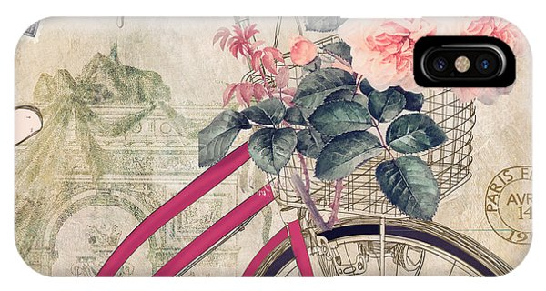 Bike iPhone Case - Bicycling In Paris II by Mindy Sommers