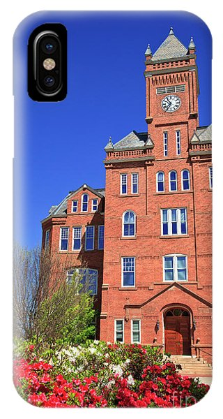 Biddle Hall In The Spring IPhone Case