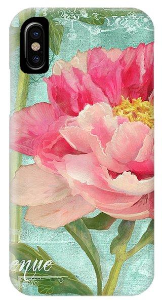 Bienvenue - Peony Garden IPhone Case
