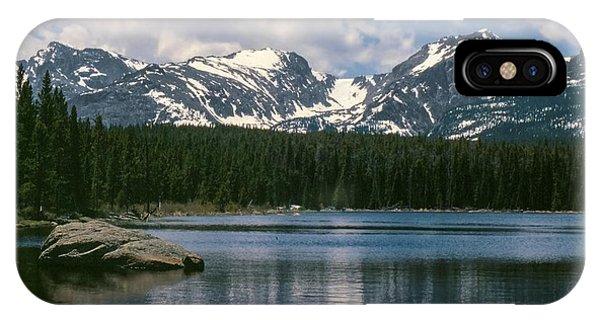 Bierstadt Lake Hallett And Otis Peaks Rocky  Mountain National Park IPhone Case